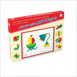 اسباب بازی-جورچین آهنربایی دایره های رنگی