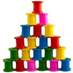 اسباب بازی-قرقره های رنگی بزرگ