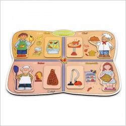 اسباب بازی-پازل چوبی(آشنایی با مشاغل 4)(8تکه)