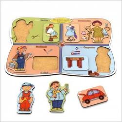 اسباب بازی-پازل چوبی(آشنایی با مشاغل 3)(8تکه)
