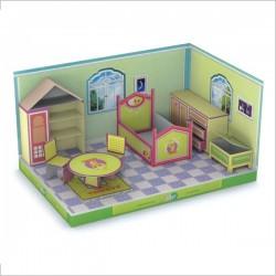 اسباب بازی-خانه عروسکی کاردستی بیبلو