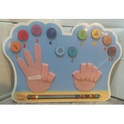 اسباب بازی-پازل چوبی انگشت شمار