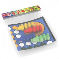 اسباب بازی-منچ و مارپله پارچه ای