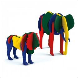 اسباب بازی-ساز و باز شیر و فیل