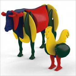 اسباب بازی-ساز و باز خروس و گاو