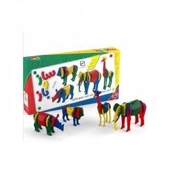 اسباب بازی-ساز و باز چهار مدلی حیوانات