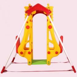 اسباب بازی-تاب کودک کجاوه ای دونفره مدل زرافه