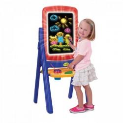 اسباب بازی-تخته نقاشی دوطرفه نورانی و گچی crayola