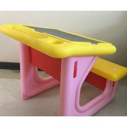اسباب بازی-میز تحریر کودک رنگ صورتی