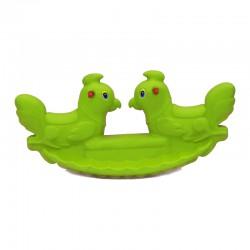 اسباب بازی-الاکلنگ تعادلی دو نفره خروس رنگ سبز