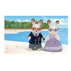 اسباب بازی-پدر بزرگ و مادر بزرگ خرگوش sylvanian families