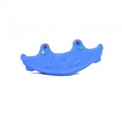 اسباب بازی-الاکلنگ تعادلی دو نفره کودک مدل تمساح رنگ آبی