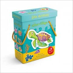 اسباب بازی-پازل جعبه ای حیوانات دریایی